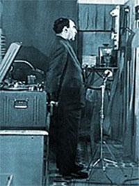 И.С. Брук во время наладки М-2