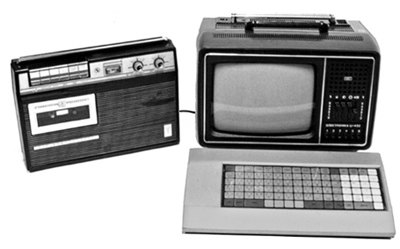 Персональные ЭВМ НЦ-80-10 и БК-0010 с телевизором и магнитофоном в качестве периферии